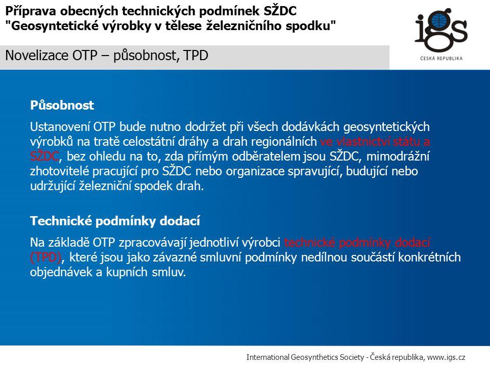 Novelizace OTP – působnost, TPD