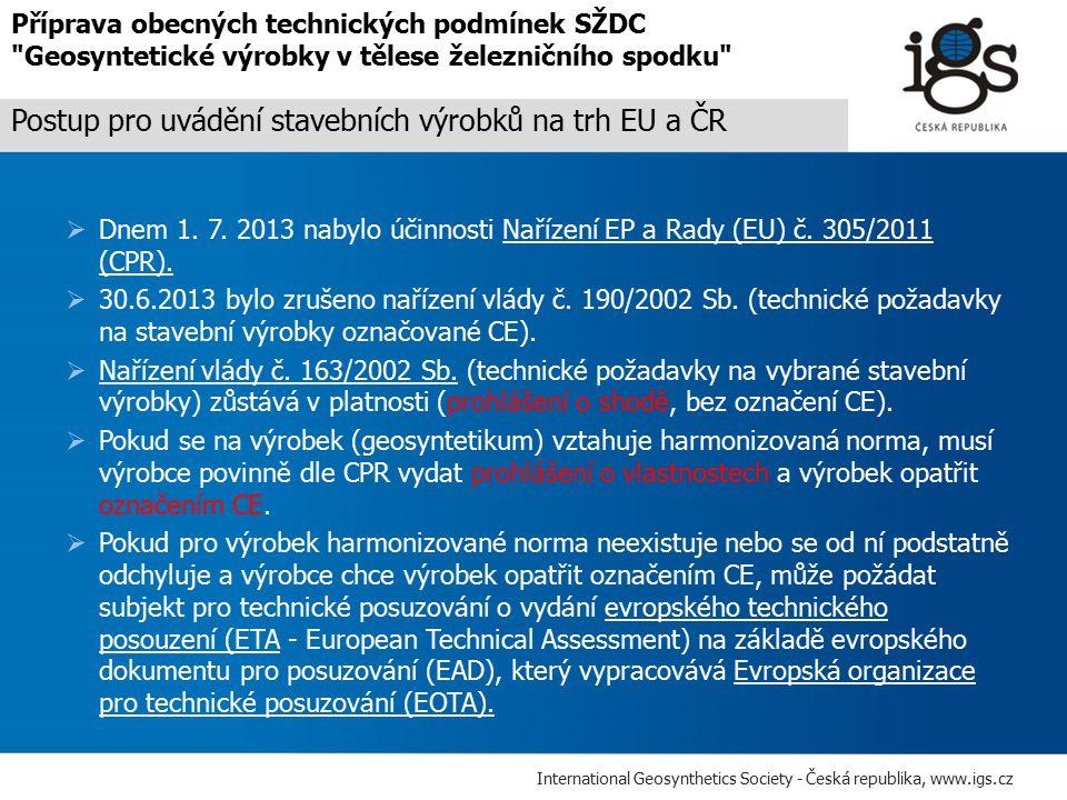 Postup pro uvádění stavebních výrobků na trh EU a ČR
