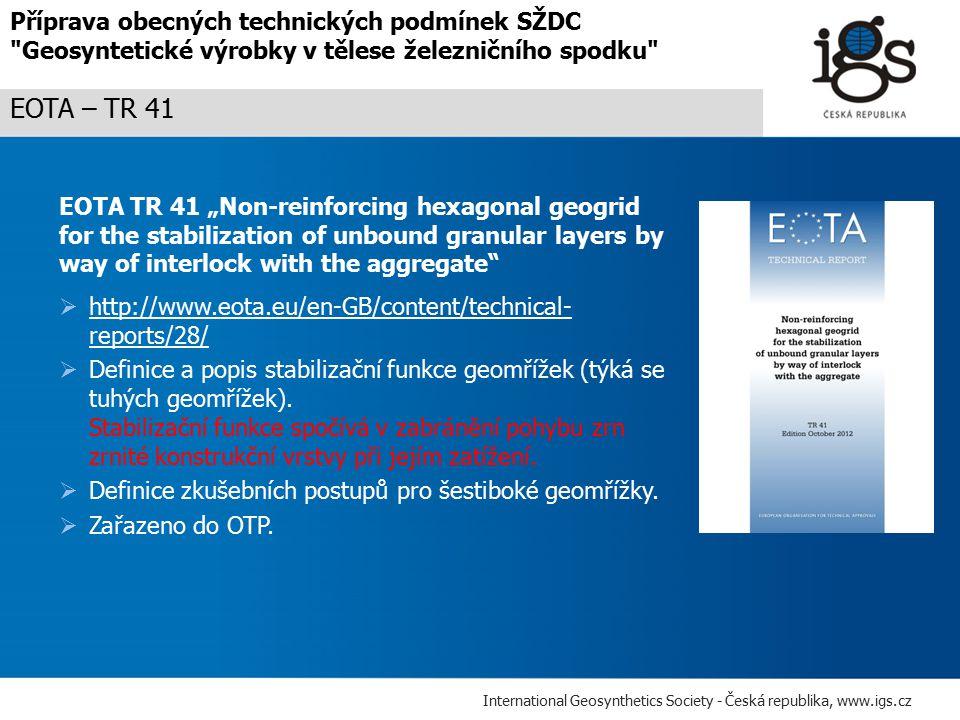 Příprava obecných technických podmínek SŽDC Geosyntetické výrobky v tělese železničního spodku