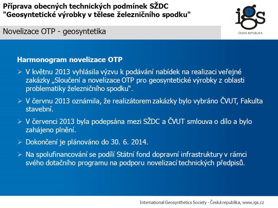 Novelizace OTP - geosyntetika