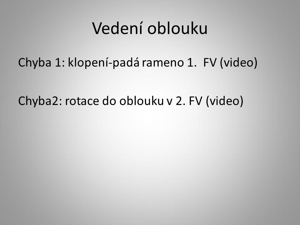 Vedení oblouku Chyba 1: klopení-padá rameno 1. FV (video) Chyba2: rotace do oblouku v 2. FV (video)
