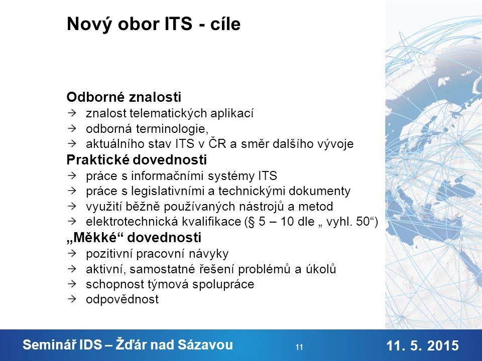 Nový obor ITS - struktura
