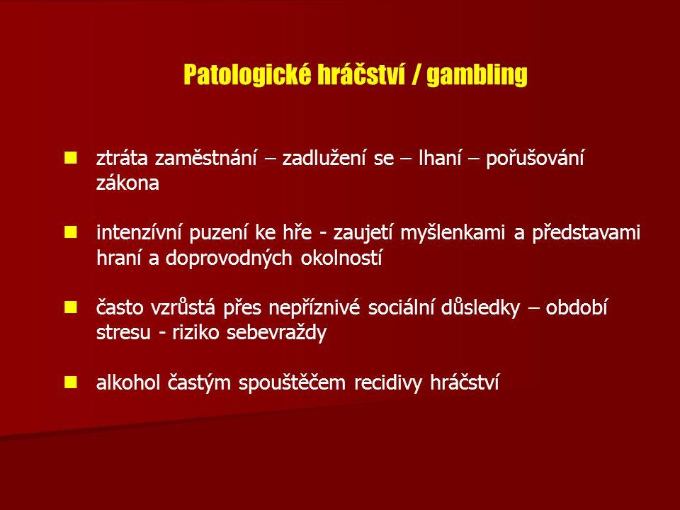 Patologické hráčství / gambling