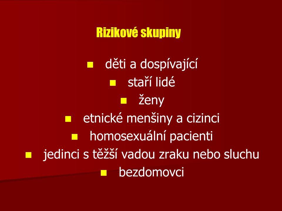 etnické menšiny a cizinci homosexuální pacienti