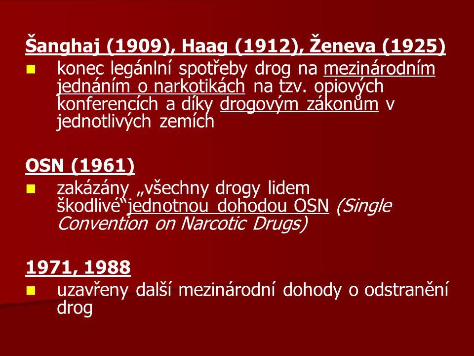 Šanghaj (1909), Haag (1912), Ženeva (1925)