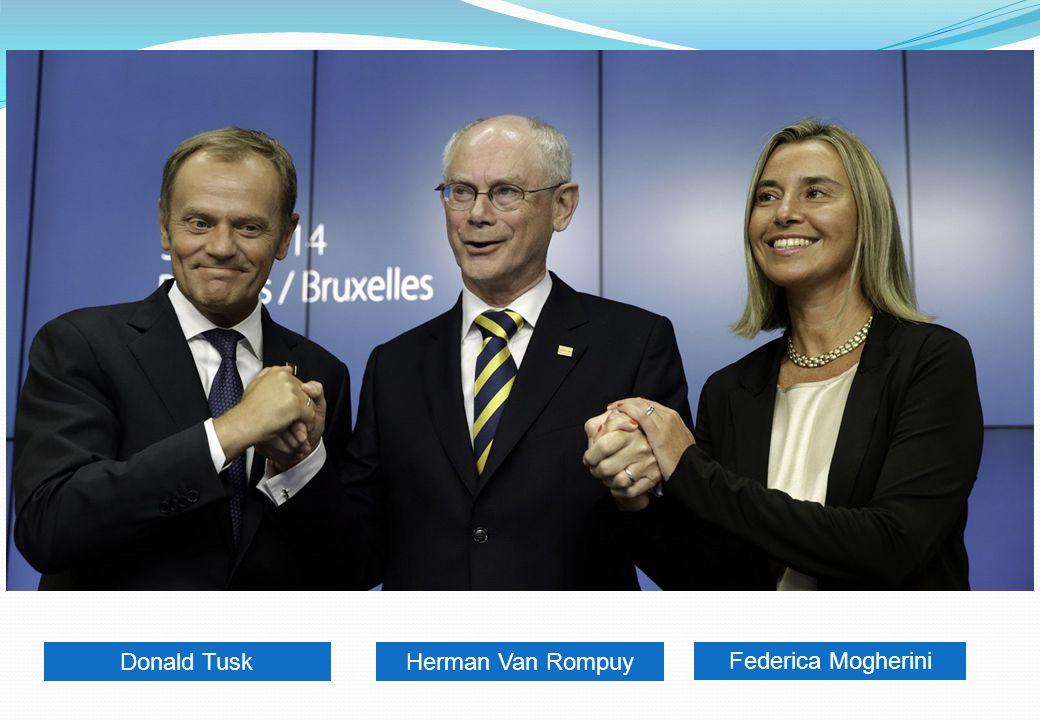 Donald Tusk Herman Van Rompuy Federica Mogherini