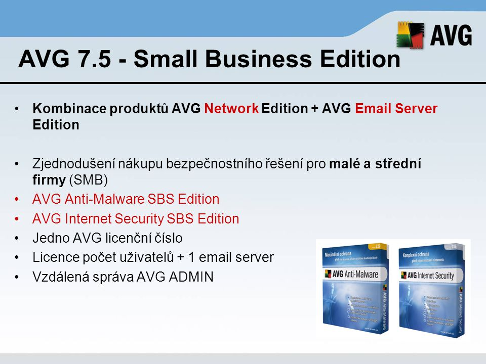AVG 7.5 - Small Business Edition