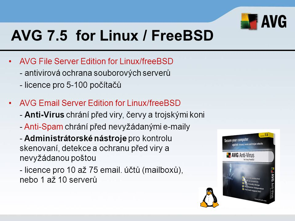 AVG 7.5 for Linux / FreeBSD AVG File Server Edition for Linux/freeBSD
