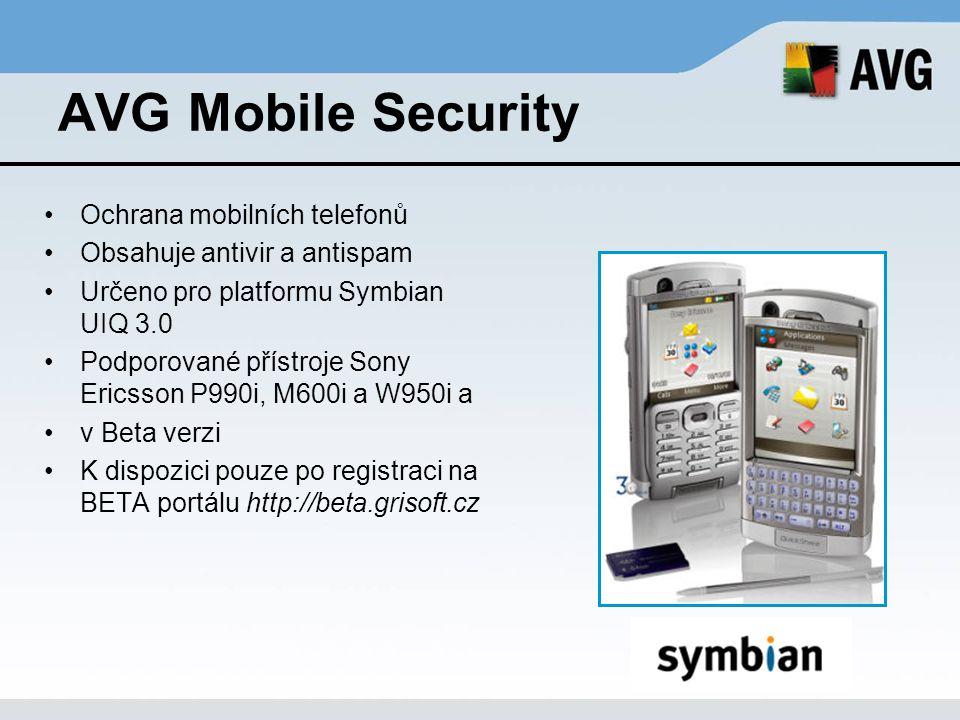 AVG Mobile Security Ochrana mobilních telefonů
