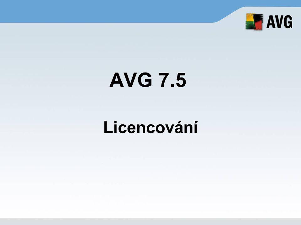 AVG 7.5 Licencování