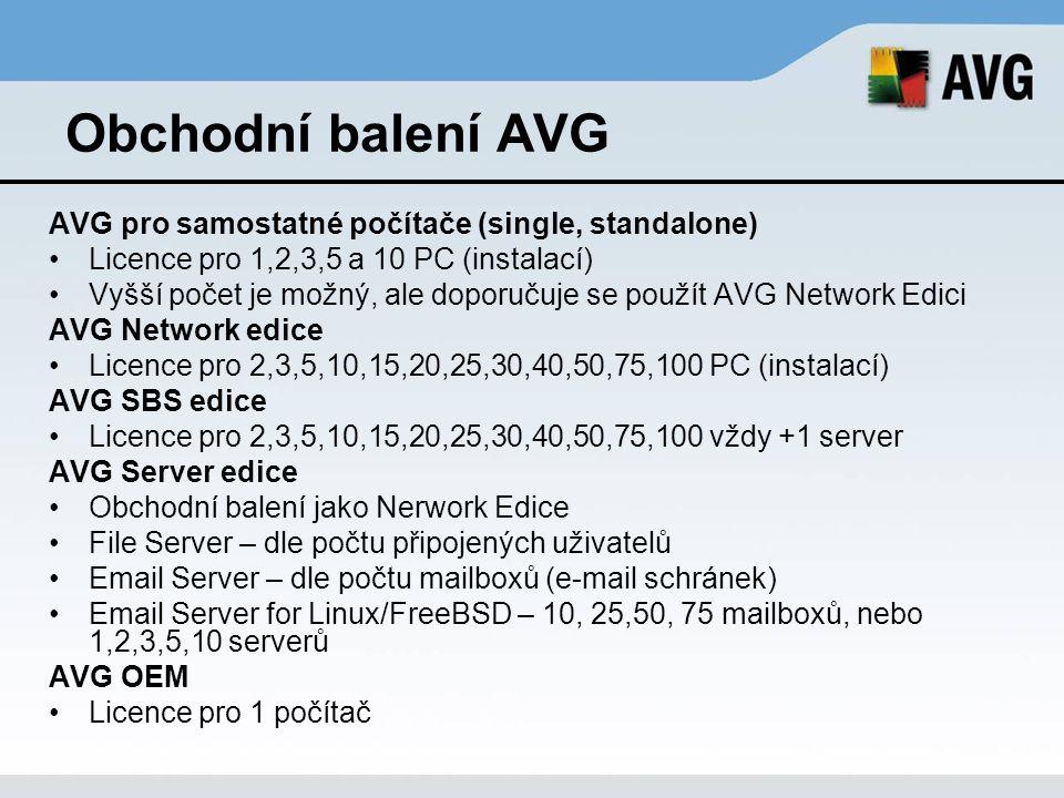 Obchodní balení AVG AVG pro samostatné počítače (single, standalone)