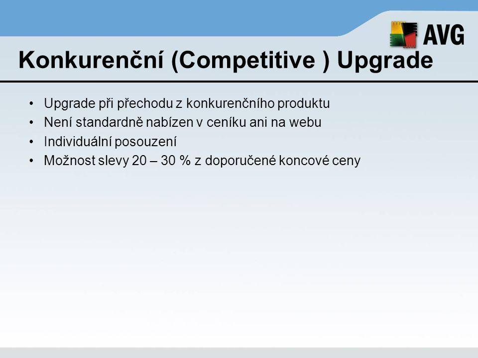 Konkurenční (Competitive ) Upgrade