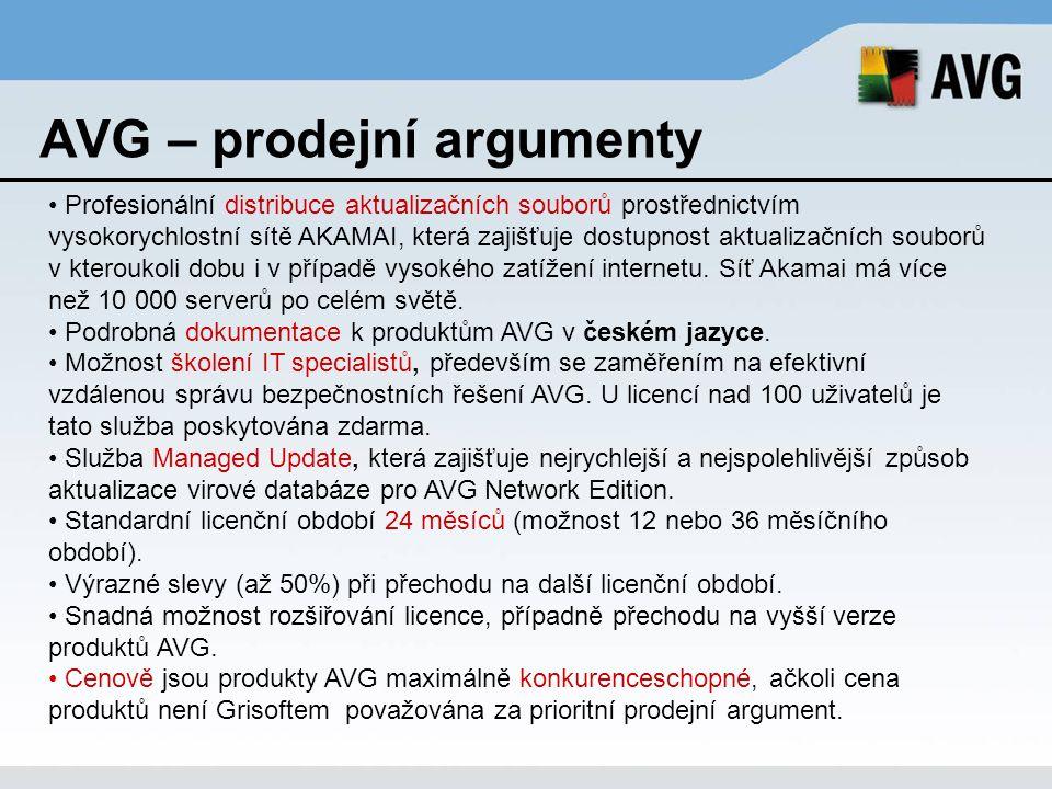 AVG – prodejní argumenty