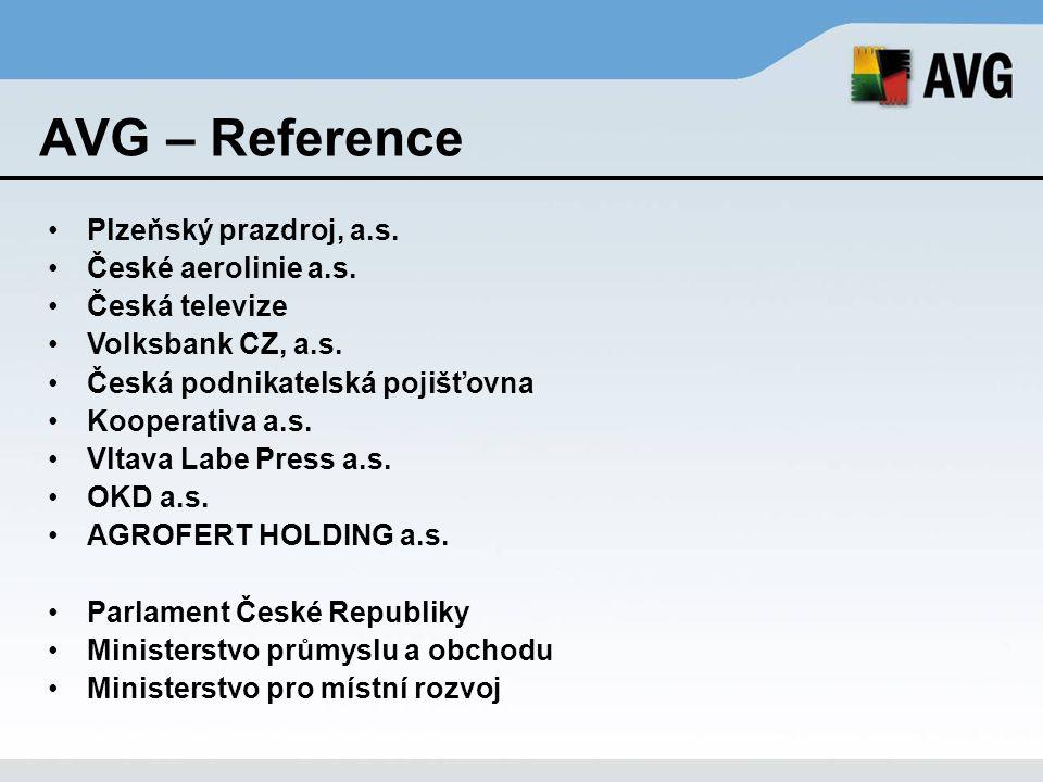 AVG – Reference Plzeňský prazdroj, a.s. České aerolinie a.s.