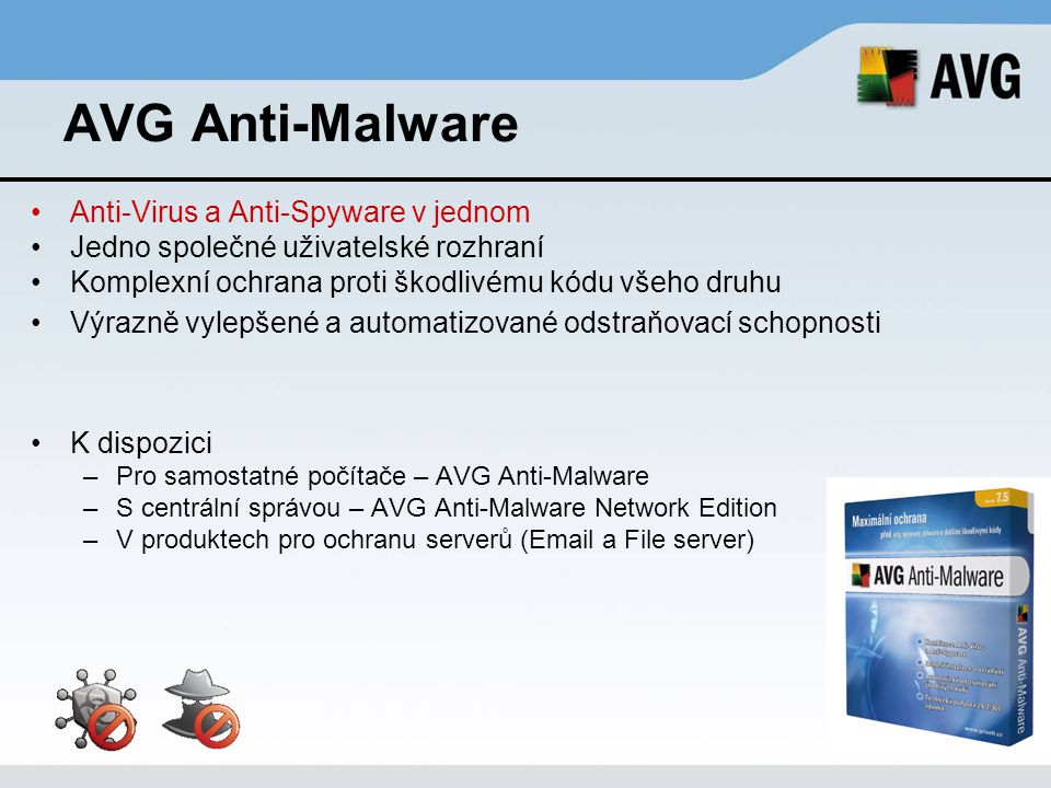 AVG Anti-Malware Anti-Virus a Anti-Spyware v jednom