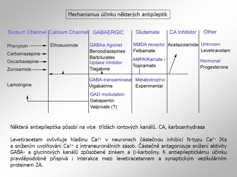 Mechanismus účinku některých antipileptik