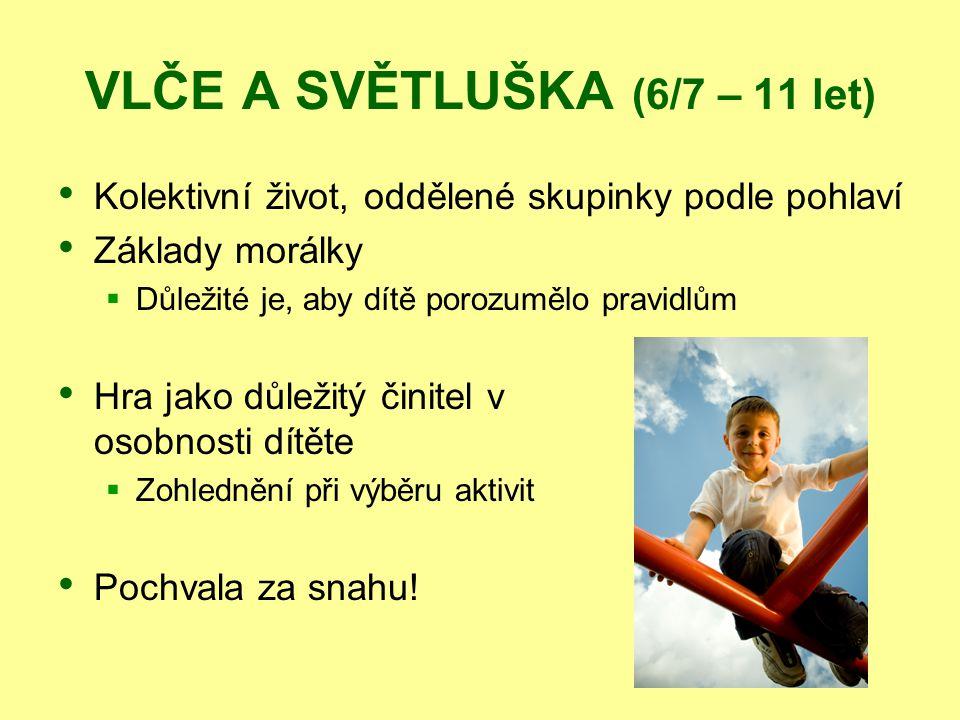 VLČE A SVĚTLUŠKA (6/7 – 11 let)