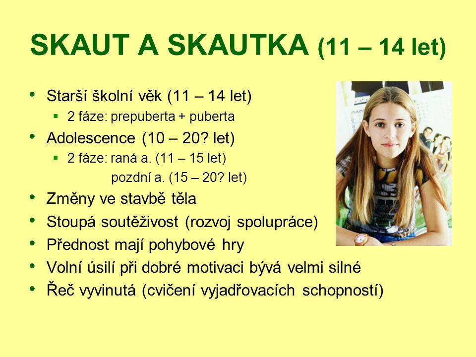 SKAUT A SKAUTKA (11 – 14 let) Starší školní věk (11 – 14 let)