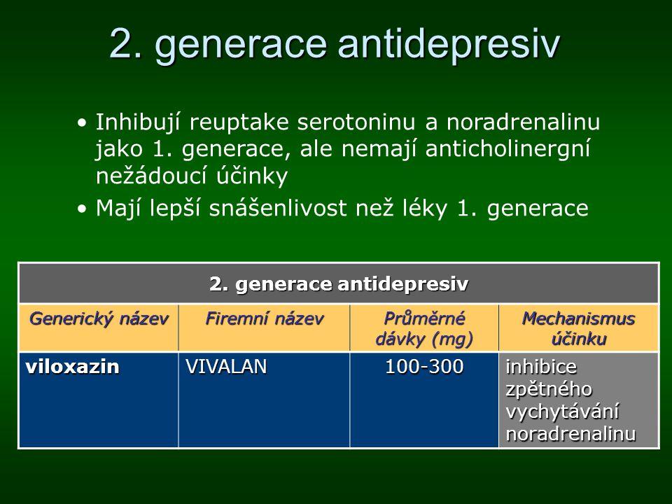 2. generace antidepresiv