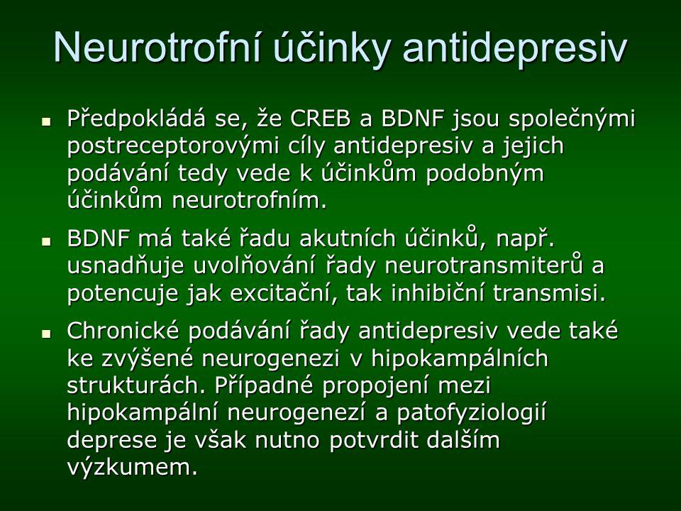 Neurotrofní účinky antidepresiv