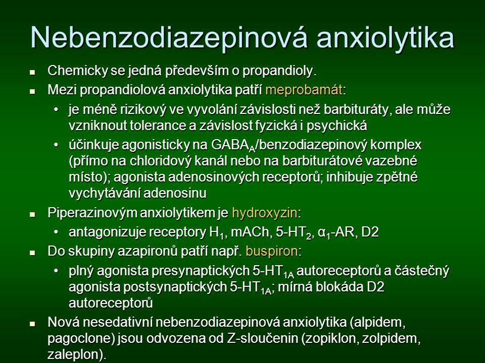 Nebenzodiazepinová anxiolytika