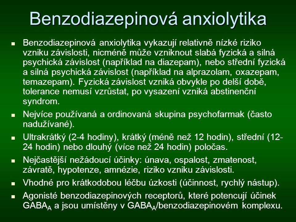 Benzodiazepinová anxiolytika