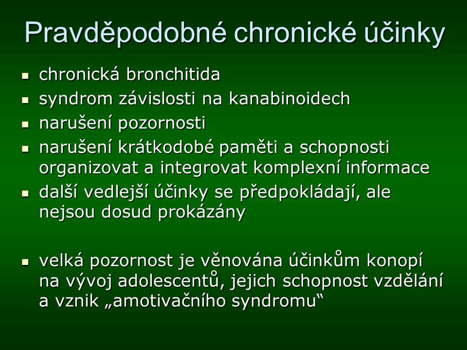 Pravděpodobné chronické účinky