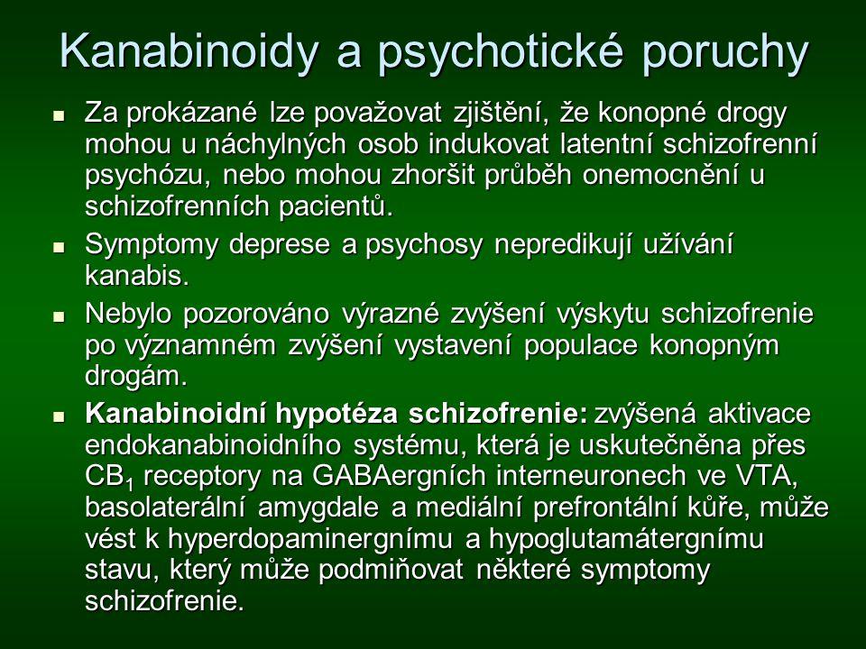 Kanabinoidy a psychotické poruchy
