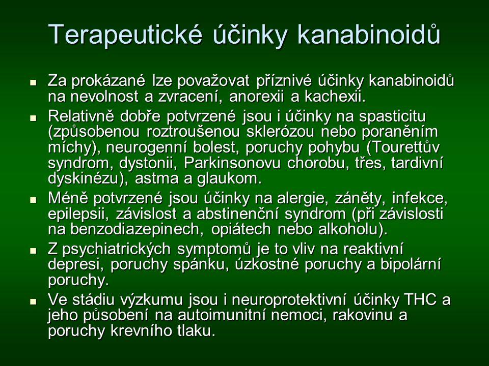 Terapeutické účinky kanabinoidů