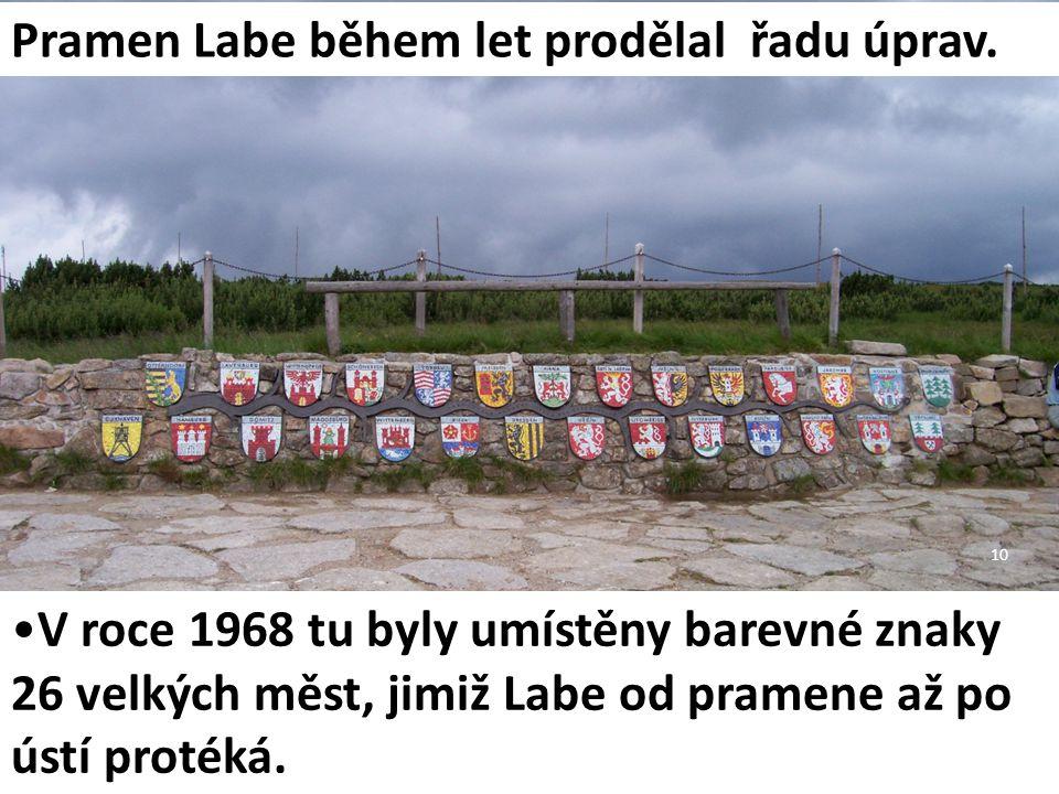 Pramen Labe během let prodělal řadu úprav.