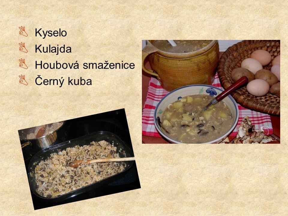 Kyselo Kulajda Houbová smaženice Černý kuba