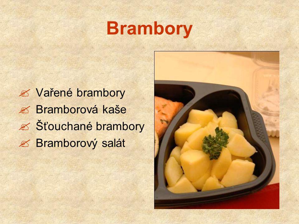 Brambory Vařené brambory Bramborová kaše Šťouchané brambory