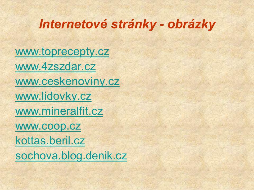 Internetové stránky - obrázky