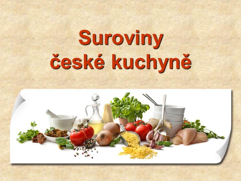 Suroviny české kuchyně