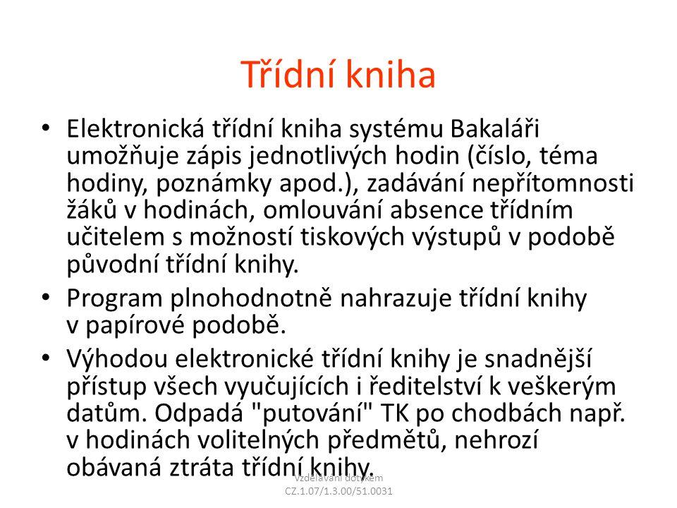 Vzdělávání dotykem CZ.1.07/1.3.00/51.0031