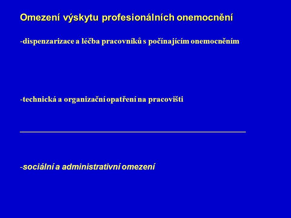 Omezení výskytu profesionálních onemocnění
