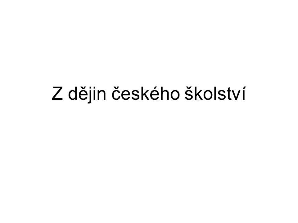 Z dějin českého školství