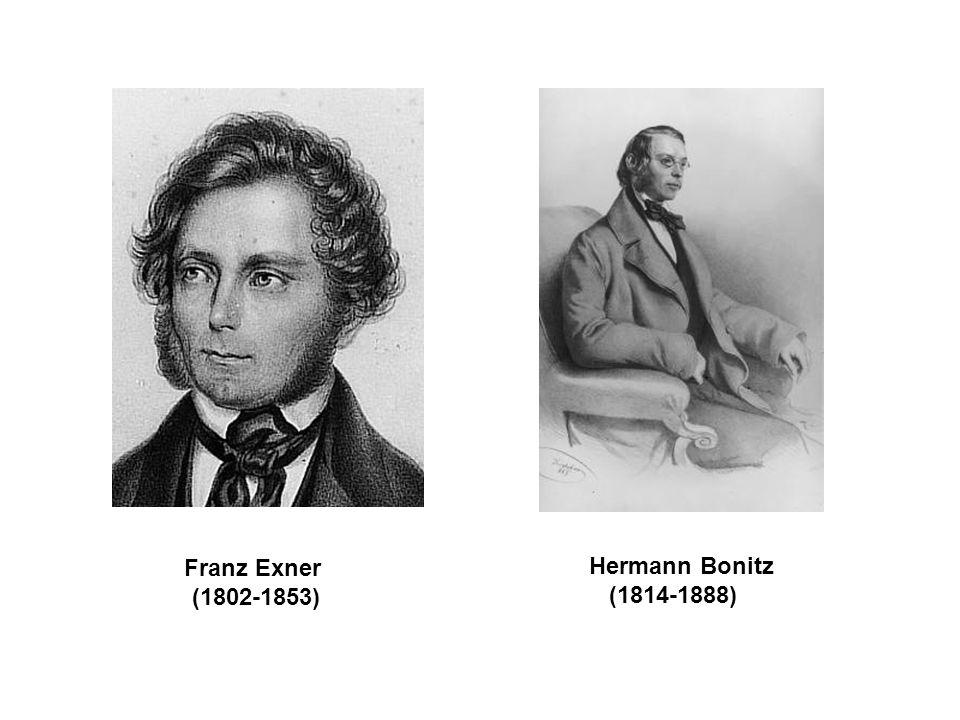 Franz Exner (1802-1853) Hermann Bonitz (1814-1888)