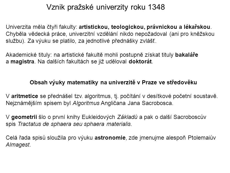 Vznik pražské univerzity roku 1348