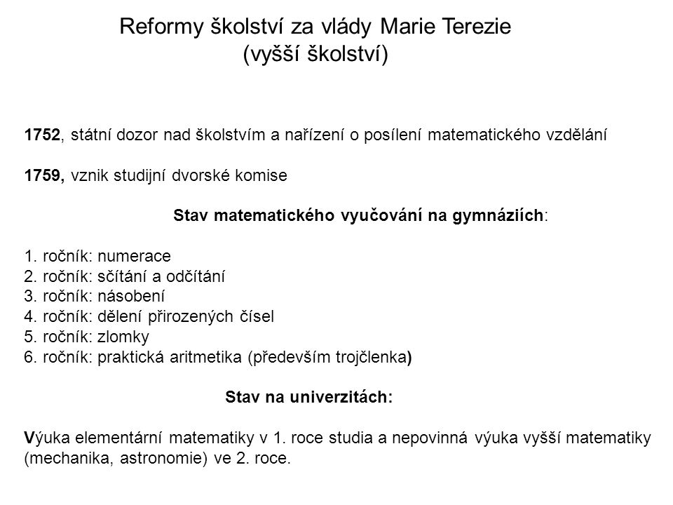 Reformy školství za vlády Marie Terezie
