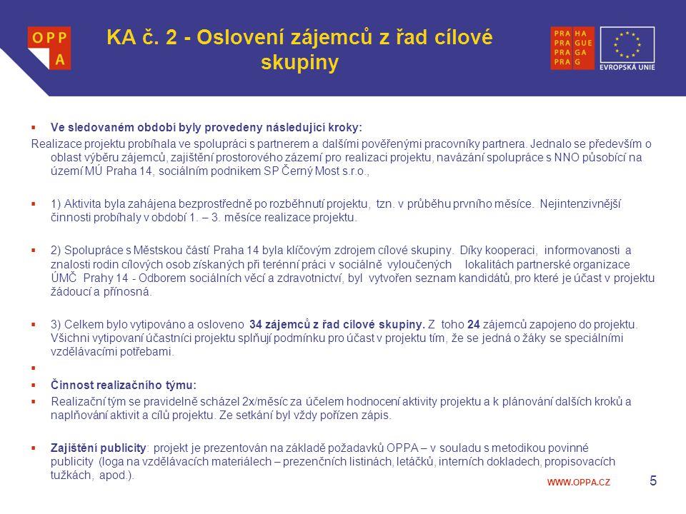 KA č. 2 - Oslovení zájemců z řad cílové skupiny