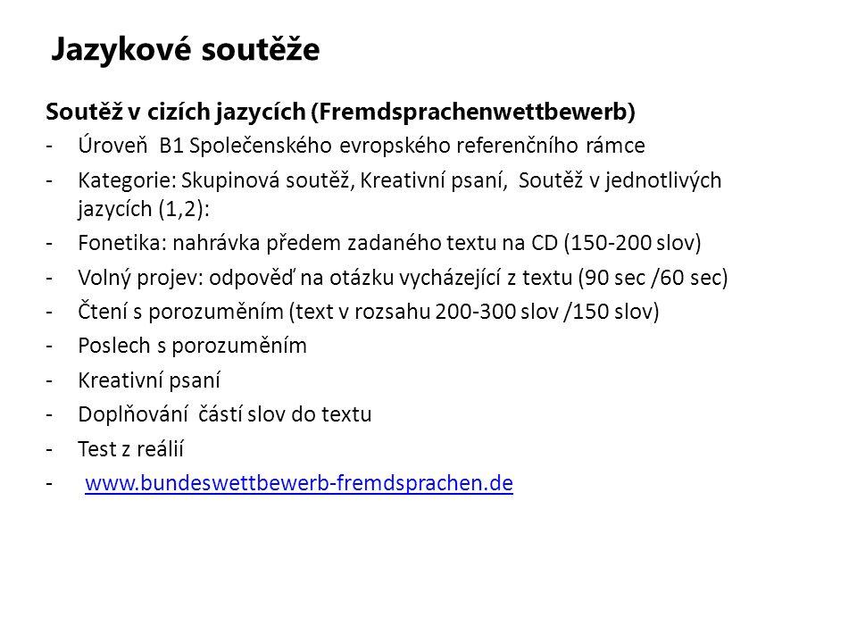 Jazykové soutěže Soutěž v cizích jazycích (Fremdsprachenwettbewerb)