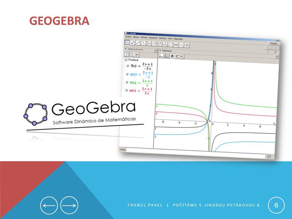 geogebra FRANCL PAVEL | Počítáme s Jindrou Petákovou 8