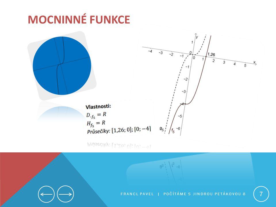 Mocninné funkce FRANCL PAVEL | Počítáme s Jindrou Petákovou 8