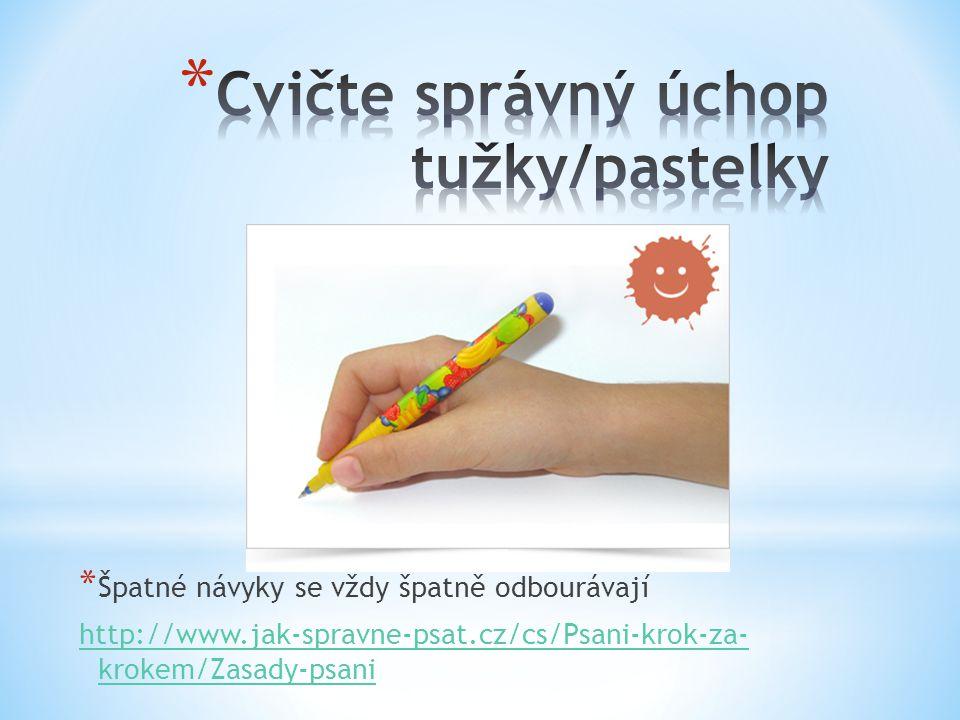 Cvičte správný úchop tužky/pastelky