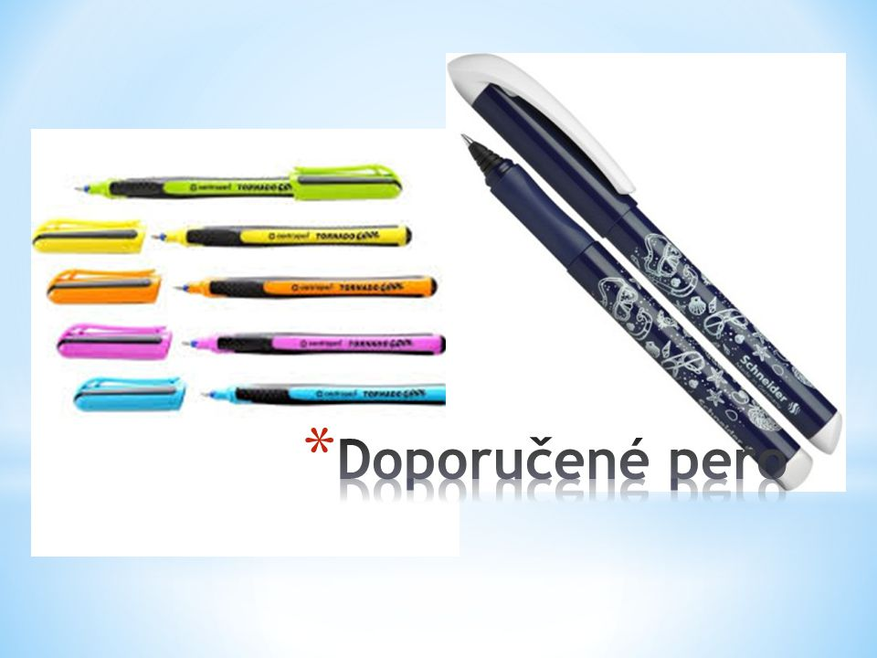 Doporučené pero