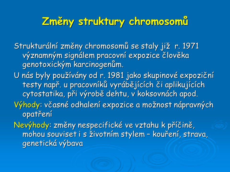 Změny struktury chromosomů