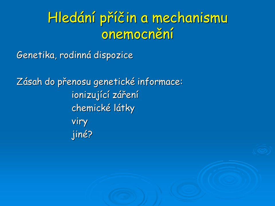 Hledání příčin a mechanismu onemocnění