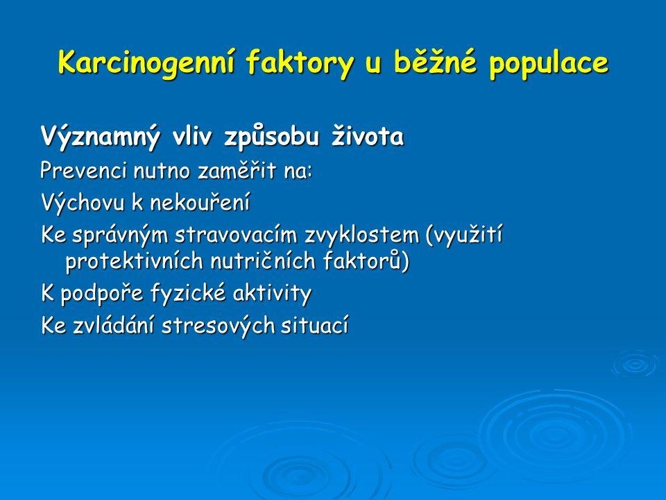 Karcinogenní faktory u běžné populace