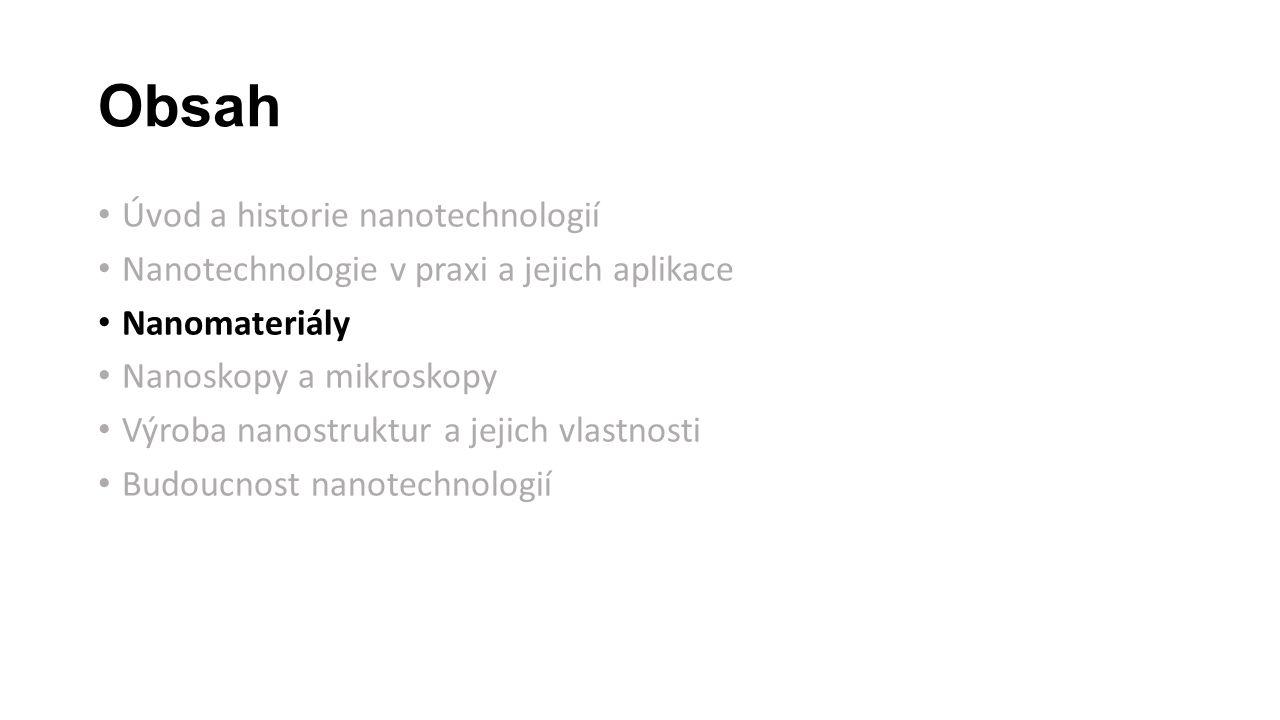 Obsah Úvod a historie nanotechnologií